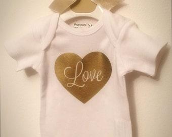Cotton infant onesie Bodysuit Baby Love