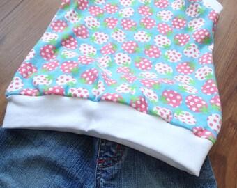 Strawberry tops, toddler hoodie vest, toddler summer top, girls top, children top, size 2T