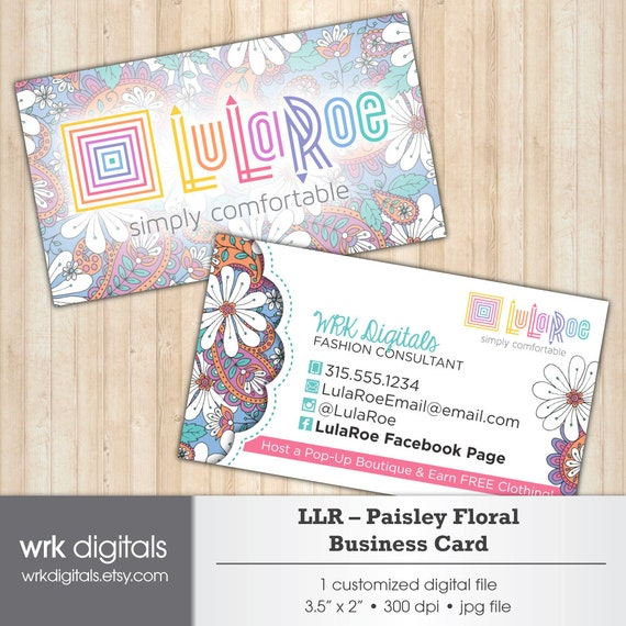 Lularoe business card lularoe marketing kit by wrkdigitals for Etsy lularoe business cards