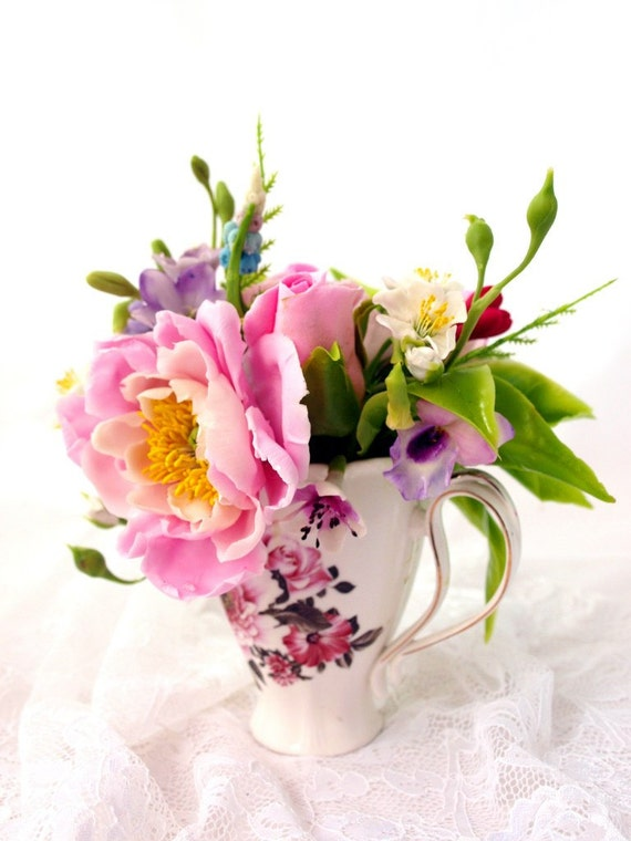 Artificial Flowers Floral Arrangement Mother Day Gift Gift