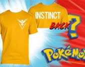 Team Instinct Pokemon GO! Gildan Crew Neck T-Shirt - double sided t-shirt - Valor mystic instinct Size S M L xL XXL