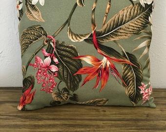 Handmade Hawaiian Bark Cloth Pillow