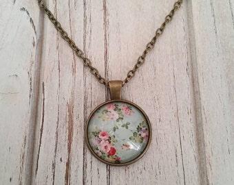 Vintage Inspired Floral Necklace, Vintage Inspired, Floral Necklace, Floral Jewelry, Floral, Antique Bronze, Floral