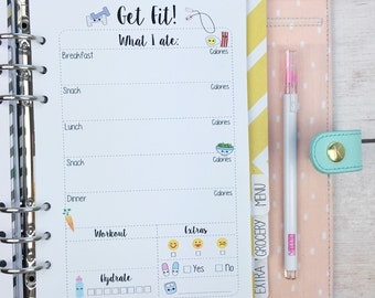 A5 Kawaii Planner Inserts- Get Fit