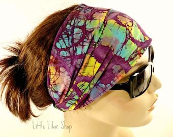 Bandanna Headband, Boho Head Scarf, Headband for Women, Wide or Extra Wide, Yoga Headband, Hair Loss,  Hippie Head Wrap, Cotton Head Wrap
