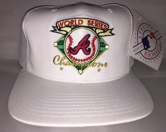 Vintage 1995 Atlanta Braves Snapback hat cap rare 90s deadstock MLB World Series American Needle
