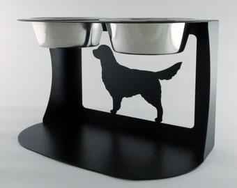 Golden Retriever Dog Bowl Stand