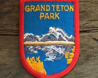 Grand Teton National Park Vintage Souvenir Travel Patch