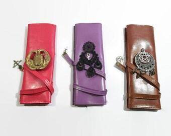 Steampunk caso militar caso gótico caso escuela regalo de las madres: piel artificial a medida conforman estuche pincel caso hecho a mano gratis P & P