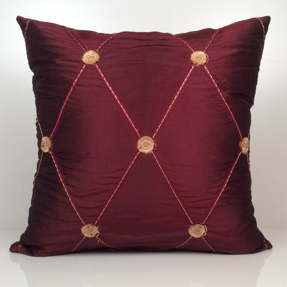 Burgundy Colored Throw Pillows : Burgundy Pillow Throw Pillow Cover Decorative Pillow Cover