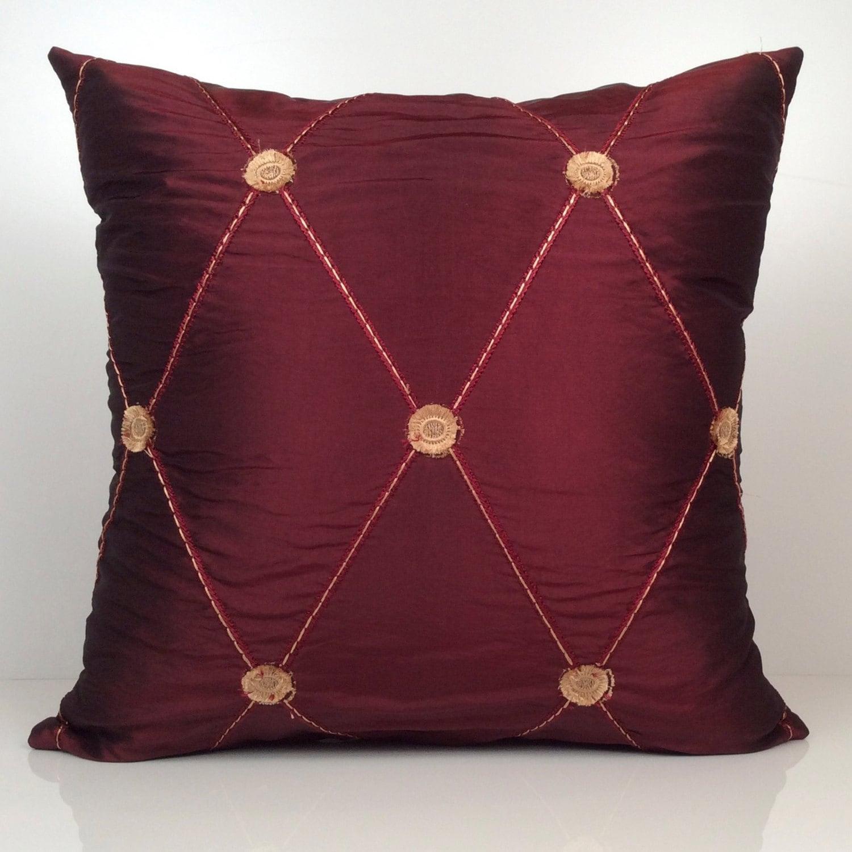 Decorative Pillows Maroon : Burgundy Pillow Throw Pillow Cover Decorative Pillow Cover