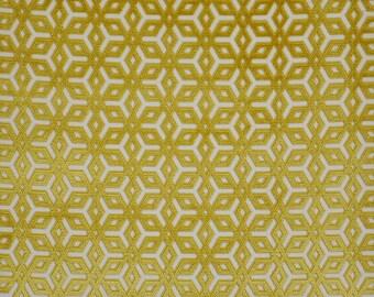 DESIGNER APOLLINA BELGIUM Belgium Cut Velvet Fabric 10 Yards Grass