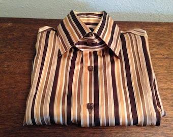 Billionaire Italian Couture Silk Shirt 43/17 (men's Lg.)