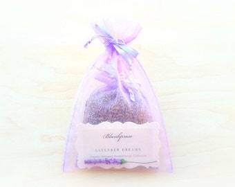 BEST SELLER • Lavender Dreams • Stress Less • Organic French & Bulgarian Lavender Scented Sachet • Dream Pillow • Botanical Sleep Therapy
