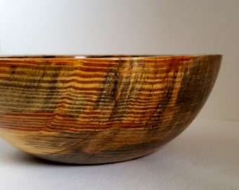 Wood Bowl Juniper chunky rim hand turned InTurn UK Woodturner home decor Woodturning