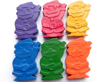 Santa Clause Crayons x6 | Father Christmas | Stocking filler | Christmas Eve Box filler | Gifts for children | Party Favours | Colouring fun