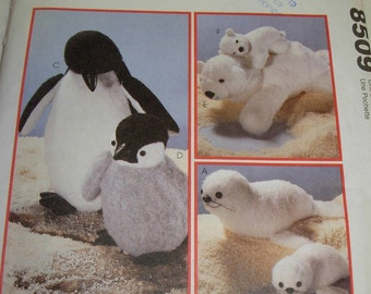 Seal, Penguin, and Polar Bear Sewing Pattern by McCall's, Mother and Babies