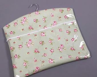 PVC Oil Cloth Peg Bag With Zip