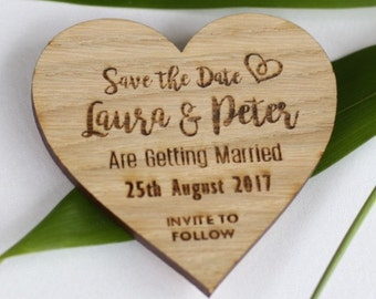 Save the date magnet, wooden save the dates, wooden wedding magnets S1