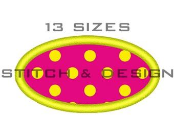 OVAL APPLIQUE Design Oval Embroidery Design Oval Applique Embroidery Design Oval Machine Embroidery Design Oval Shield ~13 SIZES~ D No:046