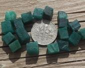 Raw emerald, emerald cubes, raw crystals, rough emerald, may birthstone, emerald green, rocks, minerals, gems, pagan, shaman, stones crystal