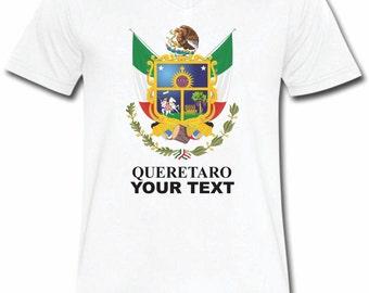 Queretaro  Mexico T-shirt V-Neck Tee Vapor Apparel with a FREE custom text(optional)