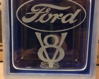 ford v8 glass block