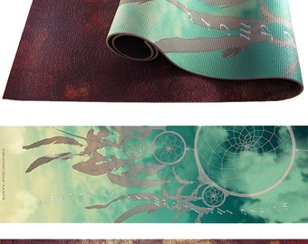 Two Sided Yoga Mat - Pick ANY Two Designs (Adult Mat)