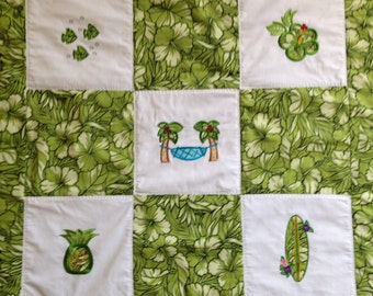 Hawaiian Quilts for Baby, Toddler, Lap, Wall Hanging REDUCED