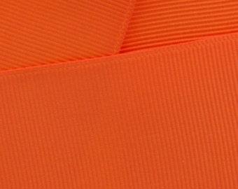"1.5"" Grosgrain Ribbon Solid 750 Orange 5yd"