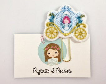 Felt Fairytale Carriage Planner Paper Clip