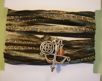 Pixar's Merida Inspired Ribbon Wrap Bracelet - Disney / Pixar Jewelry - Bohemian Jewelry