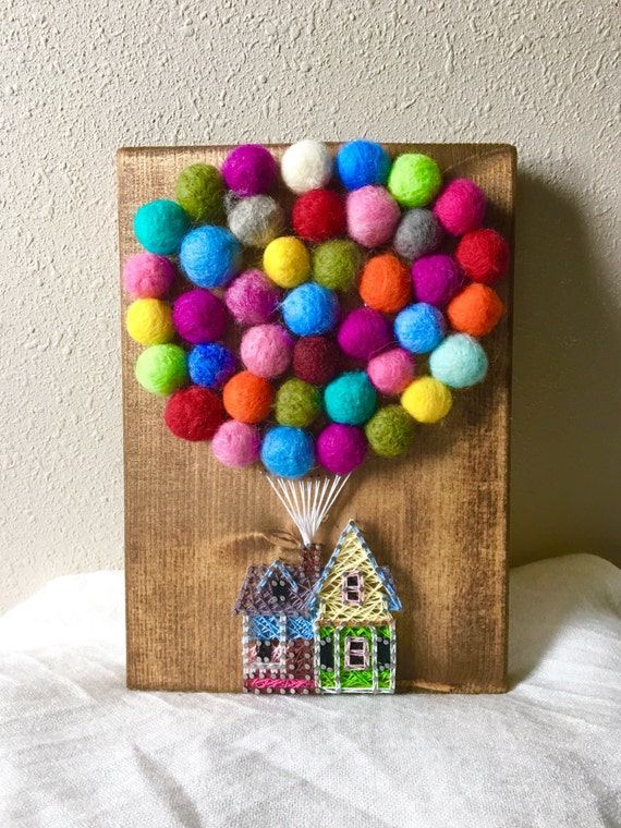 Up House String Art Hot Air Balloon String Art