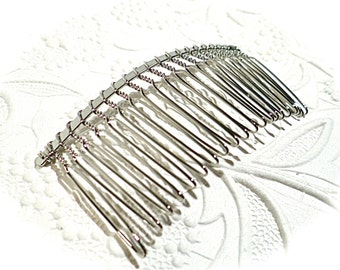 Silver Hair Combs Set of 2 Hair Accessories BT-106