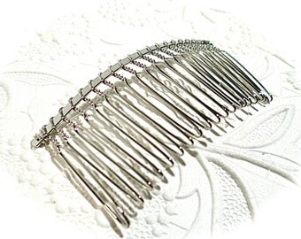2 Silver Hair Combs Hair Accessories BT-106