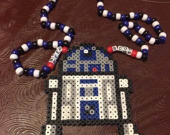 R2D2 Perler Necklace