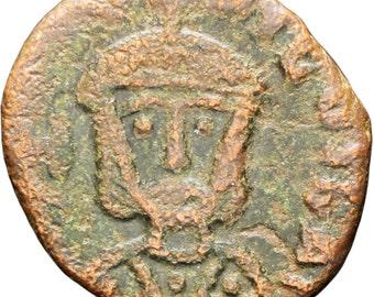 829-842 AD Byzantine Empire Theophilus Bronze Follis Syracuse mint