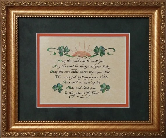 May The Road Rise Up To Meet You Irish Blessing Prayer