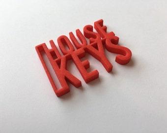 3D Printed House Keys Keyring/chain