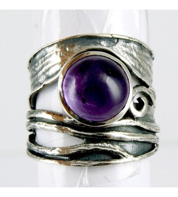 amethyst ring 925 sterling silver ring unique by