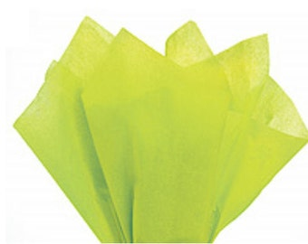 100 Sheets Citrus Green 15inch x 20inch Gift Wrap Tissue Paper