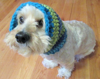 Crochet Dog Snood, Blue Dog Scarf, Handmade Dog Snood, Dog Lover Gift, Pet Accessory, Puppy Ear Warmer, Dog Neckwarmer