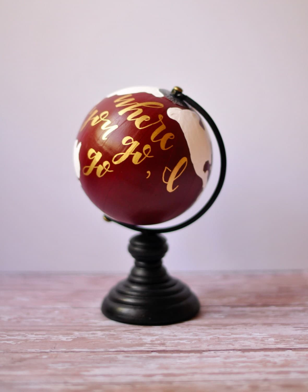 handmade globes mini painted globe custom quote handmade 699