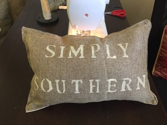 Simply Southern Faux Burlap Throw Pillow By SouthernCharm7414