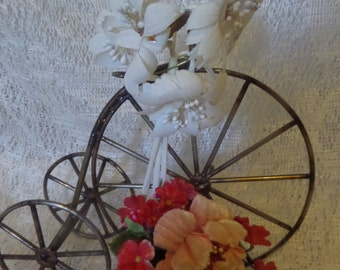 2 vintage faux flower corsages