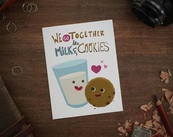 Like Milk & Cookies greeting card