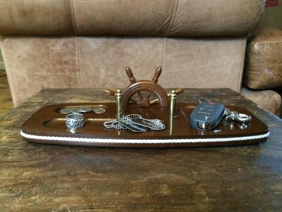 Vintage Men S Wooden Valet Nautical Theme Valet