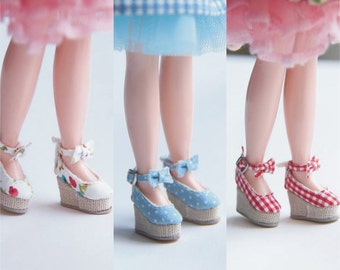 SK Couture Wedge High Heels Shoes for Blythe Pullip Dal OB21