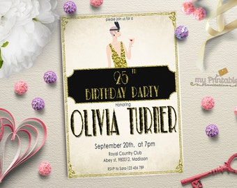 Roaring 20s Invitation / Printable