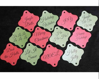 48pc Christmas Medley Sparkler Tags